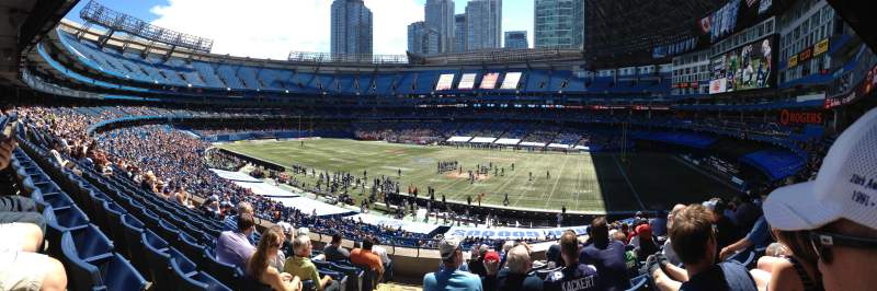 Seating view for Rogers Centre Section 208R Row 9 Seat 1