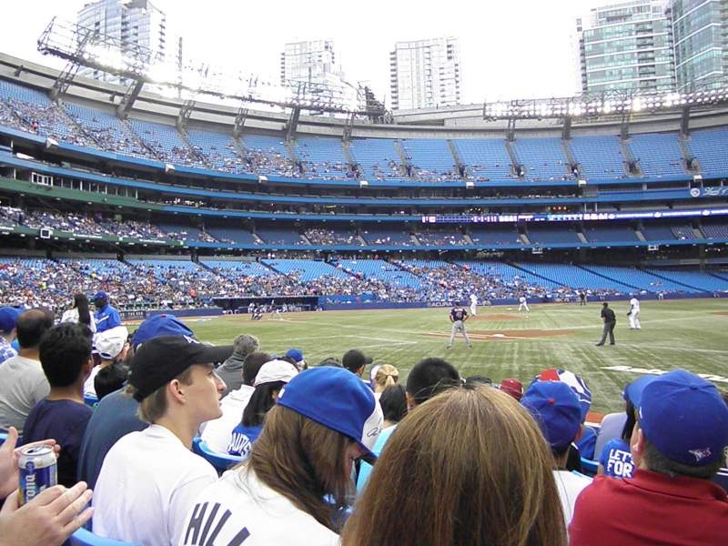 Seating view for Rogers Centre Section 114L Row 7 Seat 101