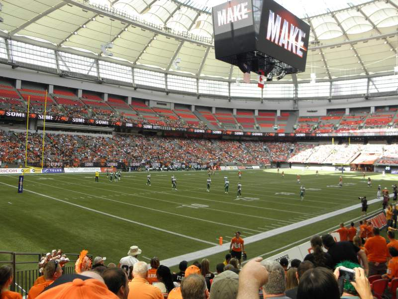Seating view for BC Place Section 249 Row K Seat 6