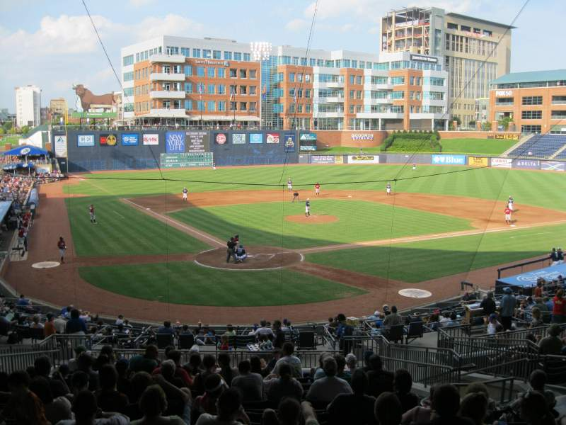 Seating view for Durham Bulls Athletic Park Section Press box