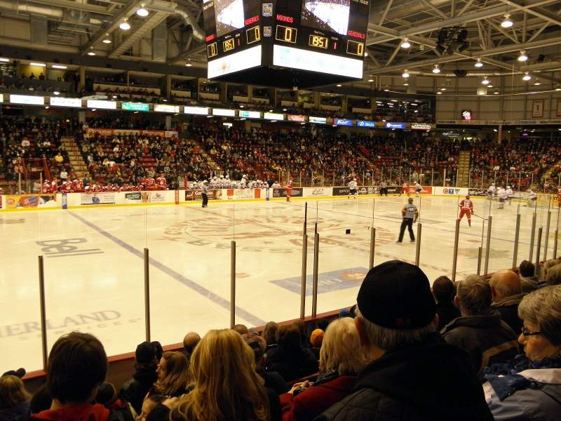 Seating view for Essar Centre Section 109 Row G Seat 14