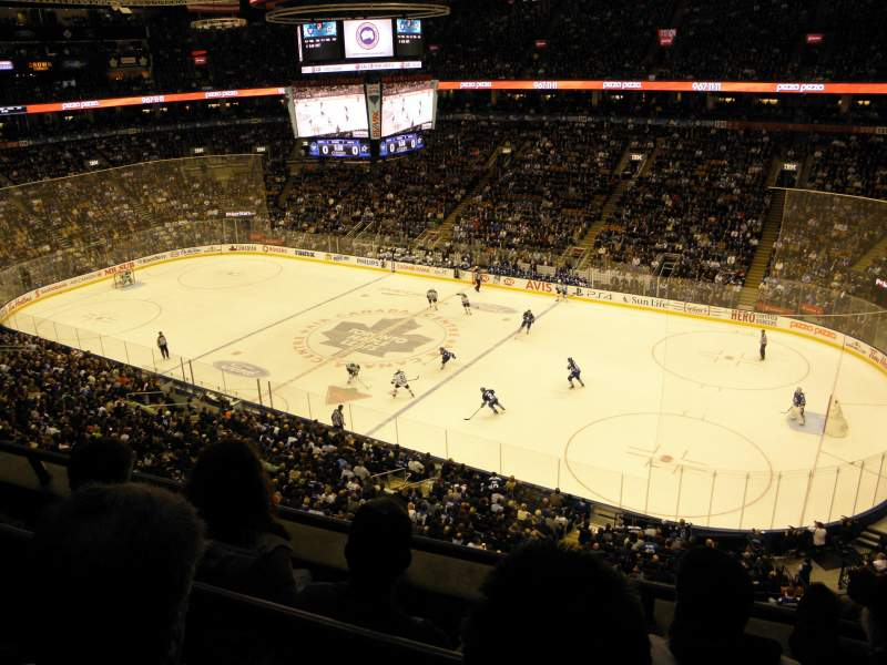 Seating view for Air Canada Centre Section 307 Row 3 Seat 9