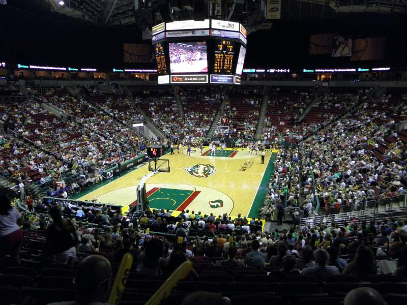 Seating view for KeyArena Section 122 Row 24 Seat 9