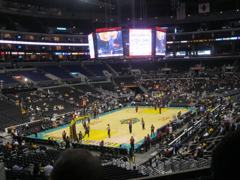 Seating view for Staples Center Section 205 Row 9 Seat 15