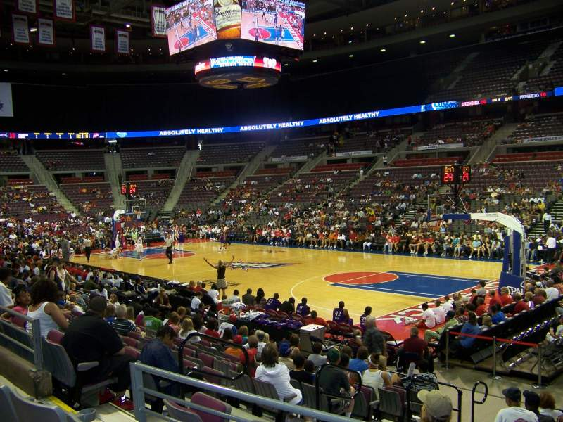 Seating view for The Palace of Auburn Hills Section 111 Row E Seat 3