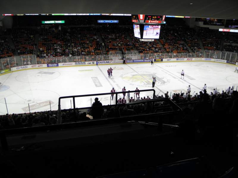 Seating view for Scotiabank Centre Section 42 Row E Seat 1