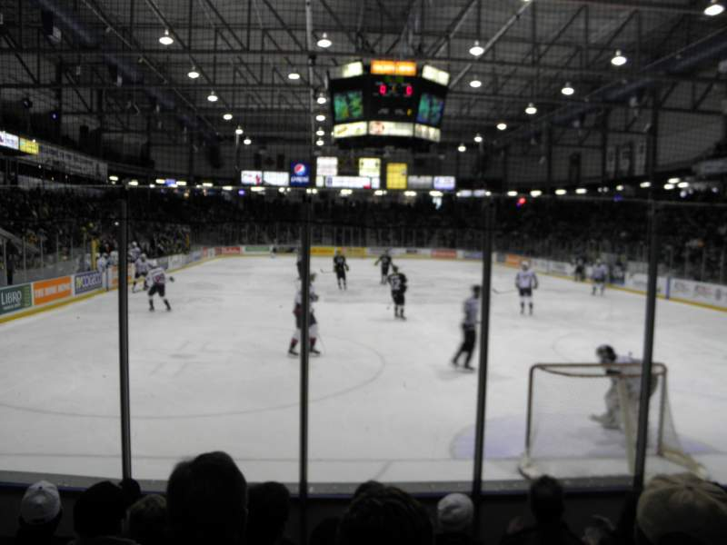 Seating view for Sarnia Sports & Entertainment Centre Section 113 Row 5 Seat 8