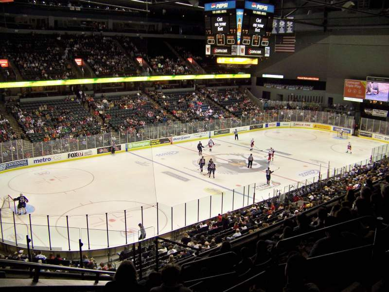 Seating view for Van Andel Arena Section 225 Row H Seat 1