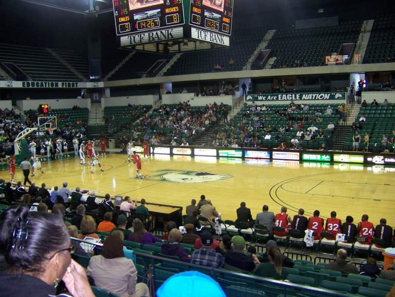 Seating view for Convocation Center (Eastern Michigan University) Section 108 Row 11 Seat 17