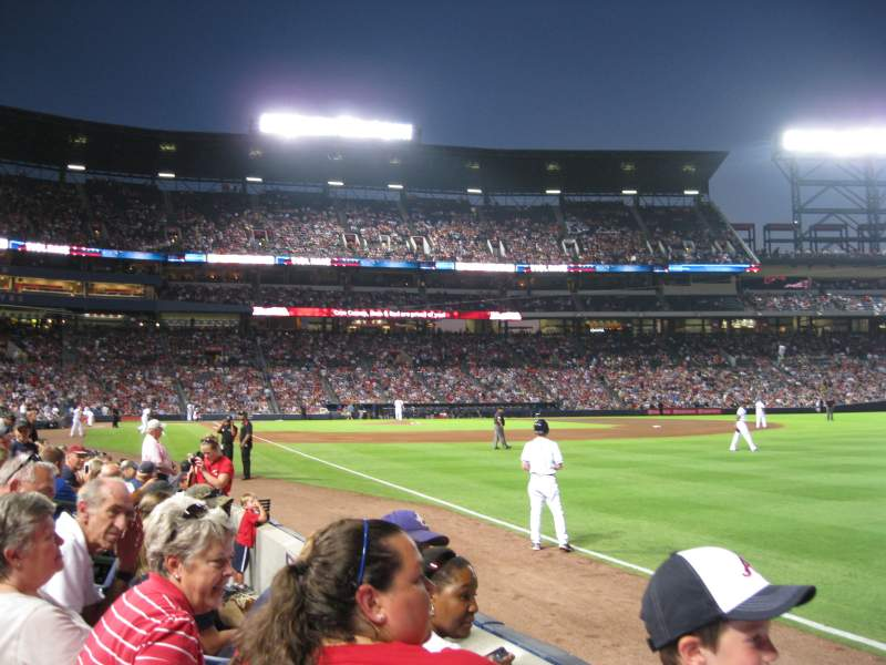 Seating view for Turner Field Section 123 Row 6 Seat 12