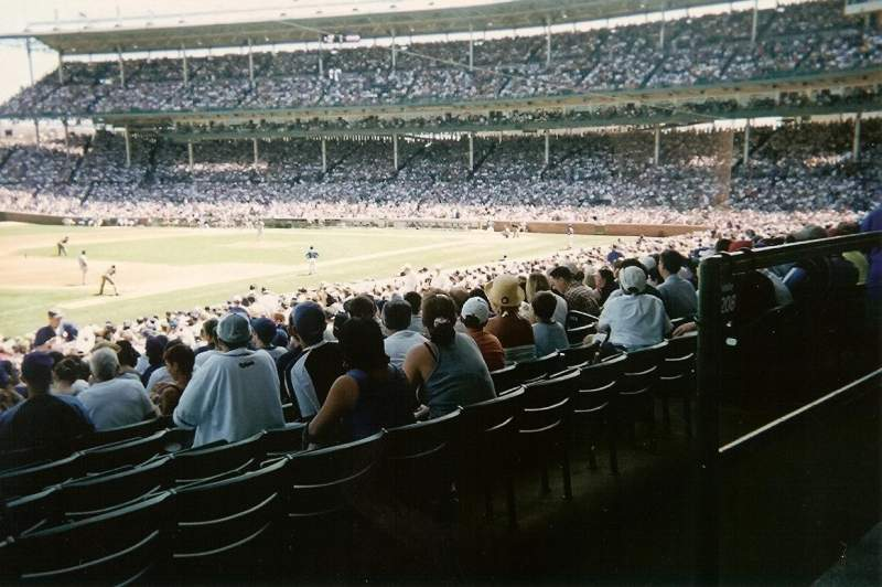 Seating view for Wrigley Field Section 208 Row 1 Seat 101