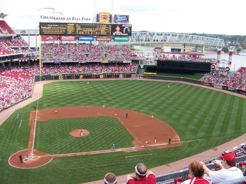 Seating view for Great American Ball Park Section 528 Row B Seat 9