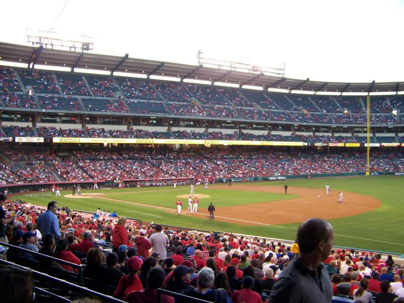 Seating view for Angel Stadium Section T226 Row B Seat 19