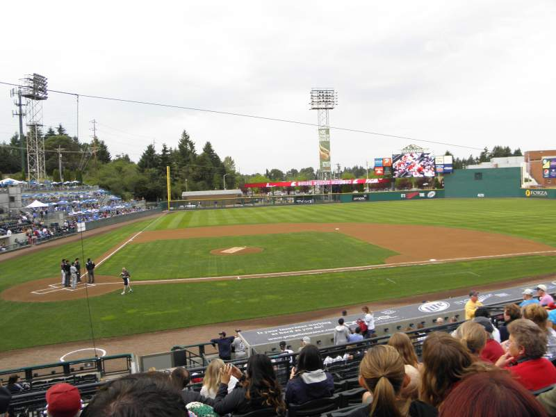 Seating view for Cheney Stadium Section 7 Row 4 Seat B