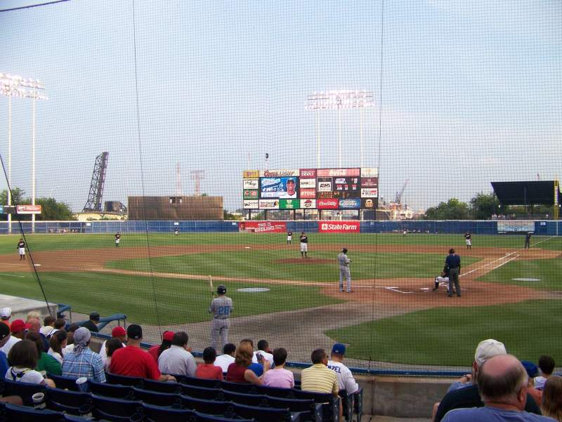 Seating view for Harbor Park Section 101 Row K Seat 12