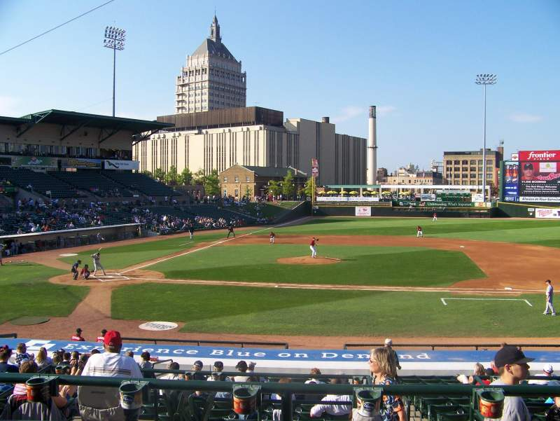 Seating view for Frontier Field Section 207 Row C Seat 4