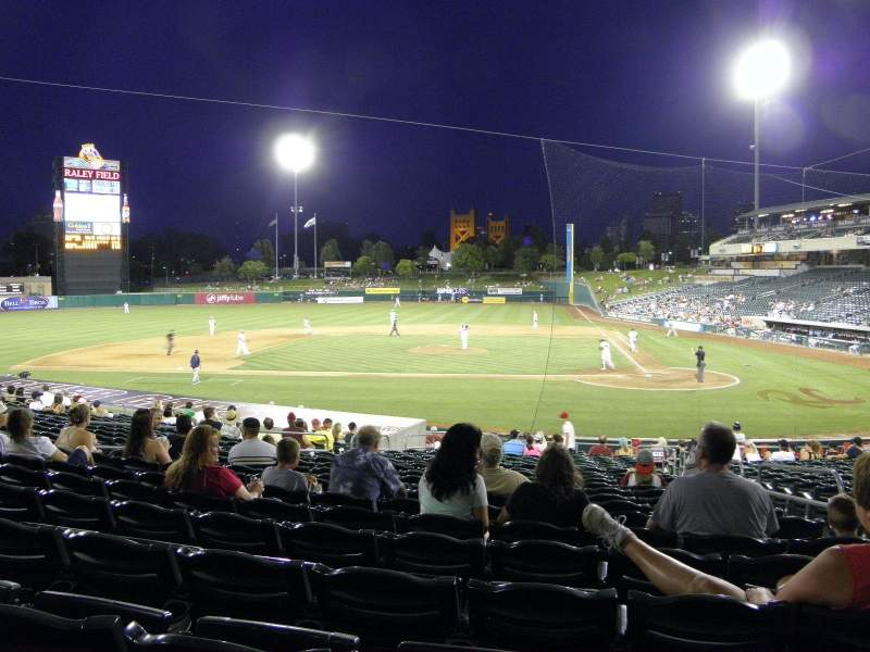 Seating view for Raley Field Section 116 Row 22 Seat 3