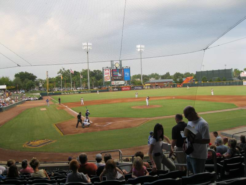 Seating view for Baseball Grounds of Jacksonville Section 109 Row R Seat 15