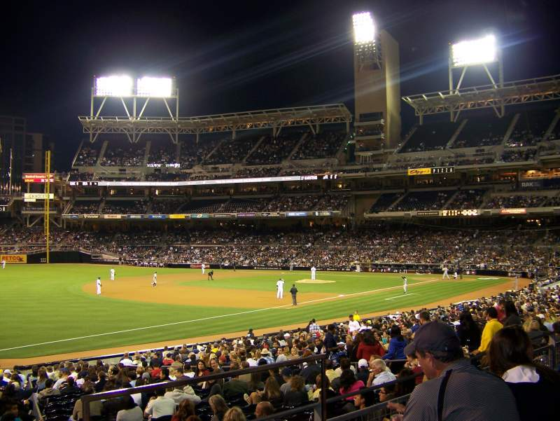 Seating view for PETCO Park Section 120 Row 29 Seat 4