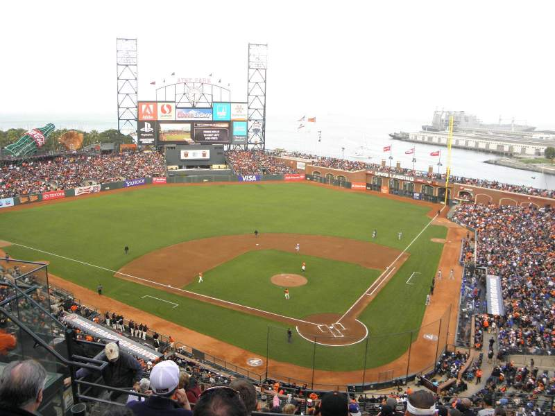 Seating view for AT&T Park Section 318 Row 3 Seat 9