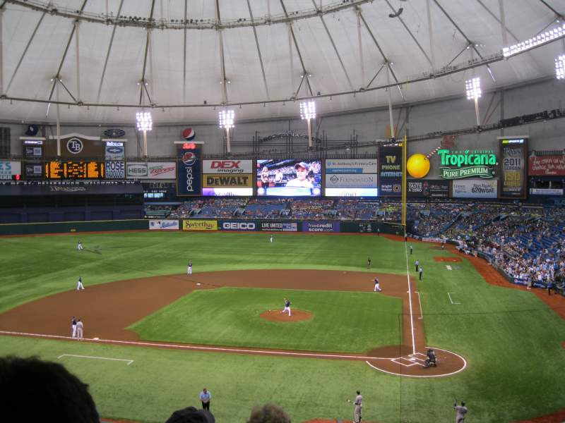 Seating view for Tropicana Field Section 207 Row D Seat 13
