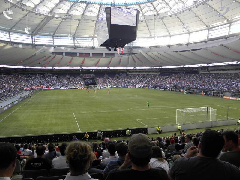 Seating view for BC Place Section 230 Row AA Seat 1