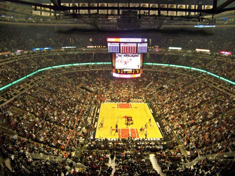Exterior: United Center, Section 326, Row 9, Seat 15