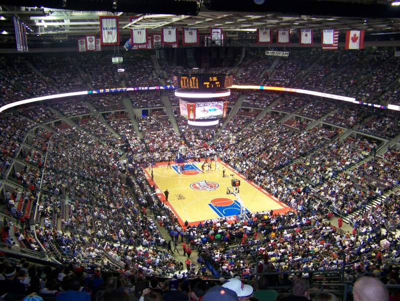 Seating view for The Palace of Auburn Hills Section 210 Row 18 Seat 3