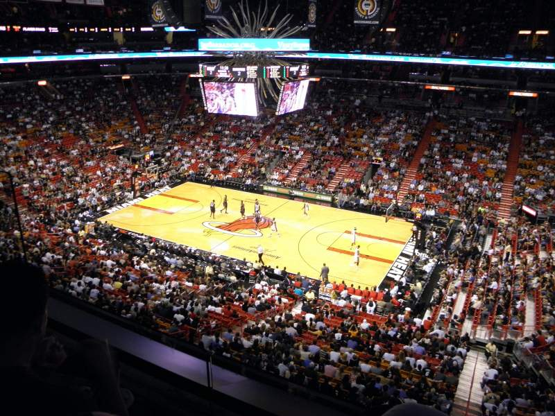Seating view for American Airlines Arena Section 306 Row 2 Seat 16