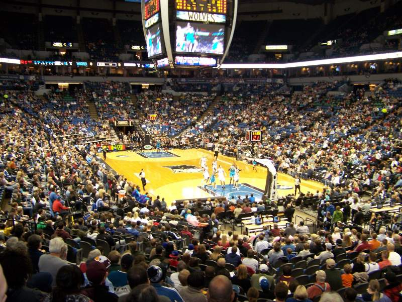 Seating view for Target Center Section 124 Row Q Seat 18