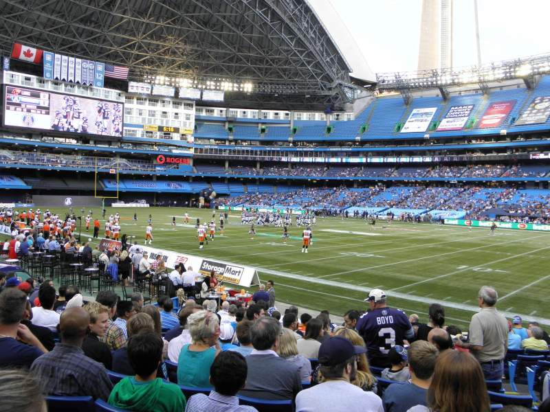 Seating view for Rogers Centre Section 127 Row 18 Seat 103