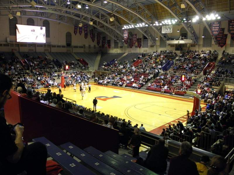Seating view for Palestra Section 222 Row 5 Seat 1