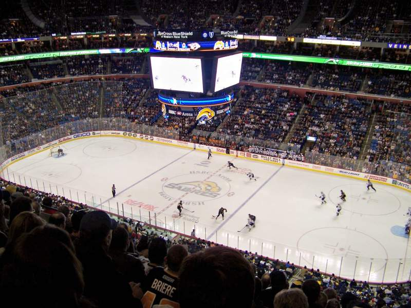 Seating view for KeyBank Center Section 318 Row 10 Seat 13