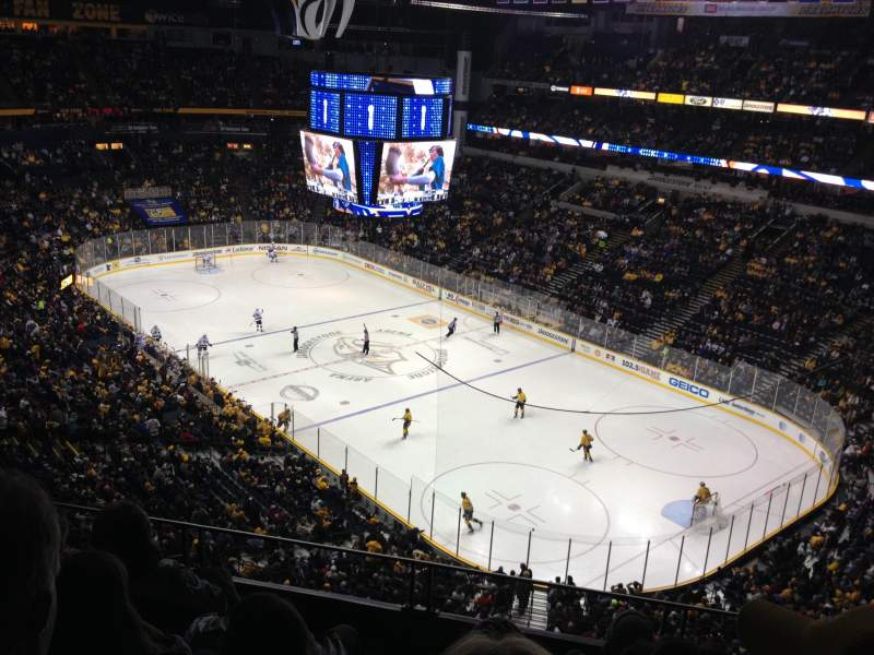 Seating view for Bridgestone Arena Section 330 Row E Seat 4