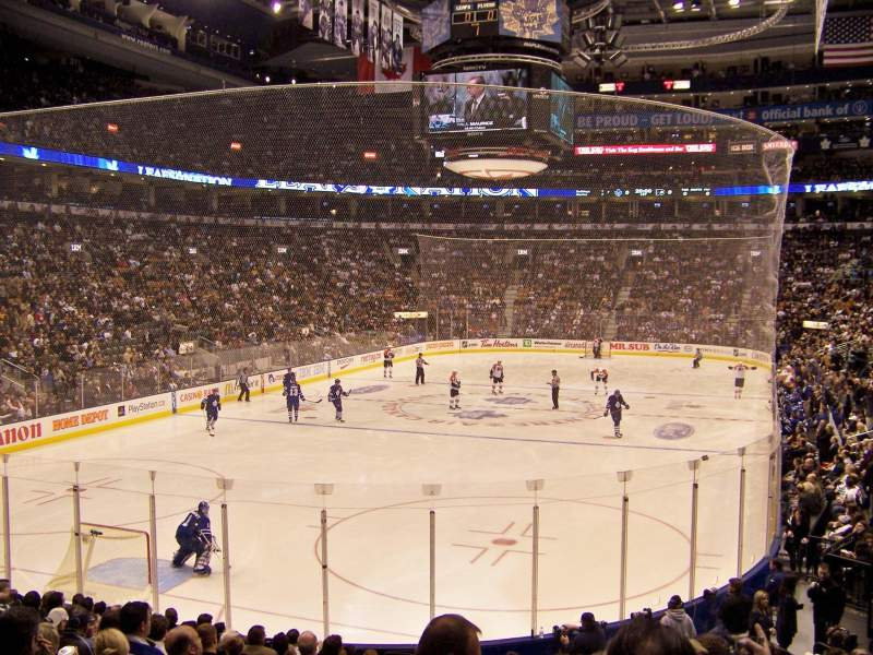 Seating view for Air Canada Centre Section 101 Row 18 Seat 19