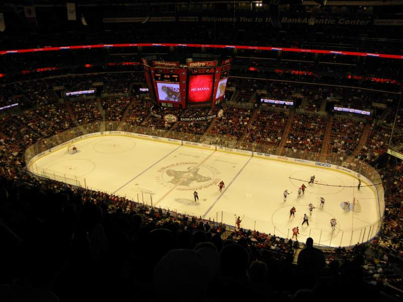 Seating view for BB&T Center Section 433 Row 9 Seat 1