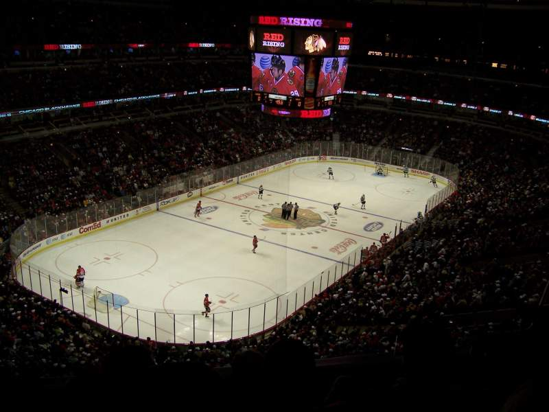 Seating view for United Center Section 306 Row 6 Seat 4