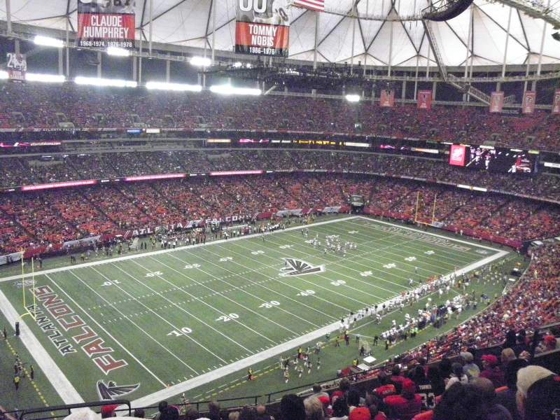 Seating view for Georgia Dome Section 301 Row 11 Seat 3