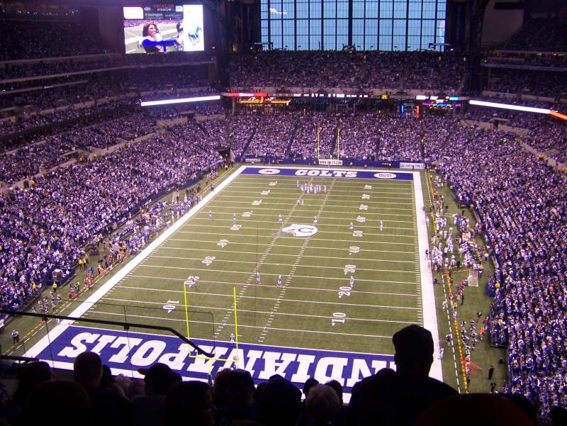 Seating view for Lucas Oil Stadium Section 625 Row 8 Seat 15