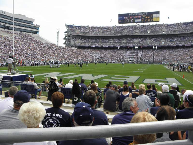 Seating view for Beaver Stadium Section NC Row 1 Seat 6
