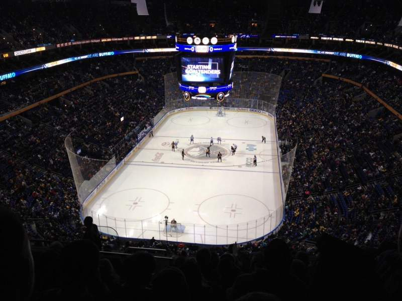 Seating view for KeyBank Center Section 326 Row 12 Seat 22