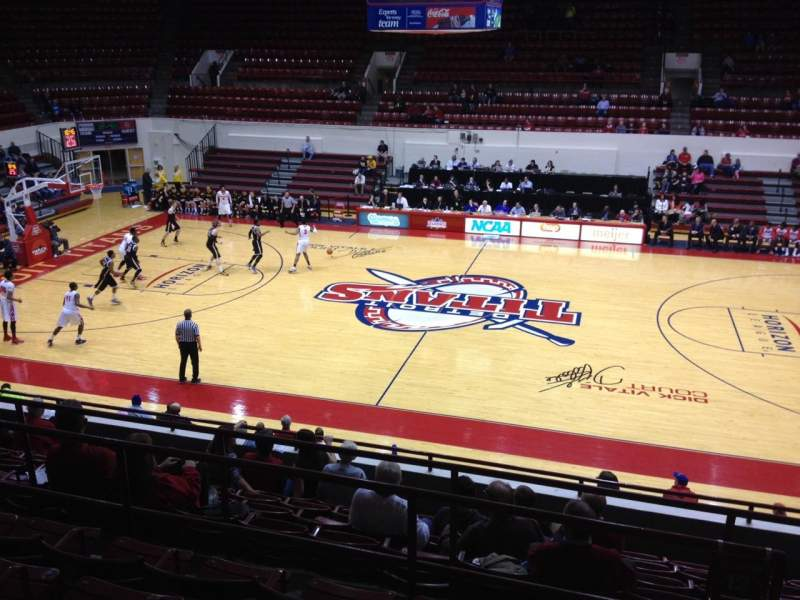 Seating view for Calihan Hall Section 12 Row H Seat 2