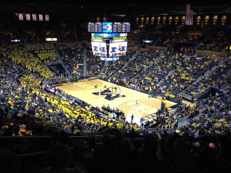 Seating view for Crisler Center Section 218 Row 37 Seat 12