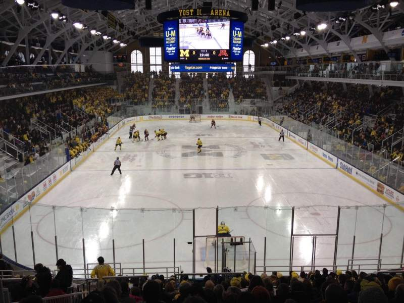Seating view for Yost Ice Arena Section 26 Row 17 Seat 15