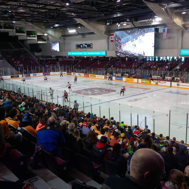 Seating view for TD Place Arena Section 16 Row R Seat 12