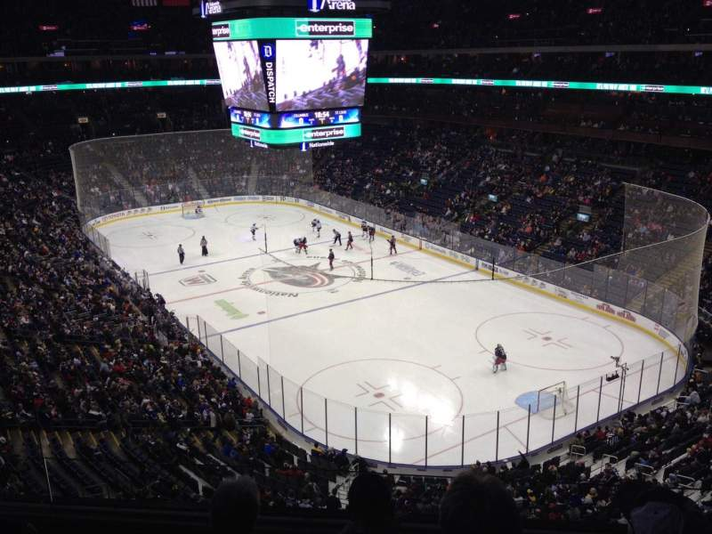 Seating view for Nationwide Arena Section 227 Row F Seat 8