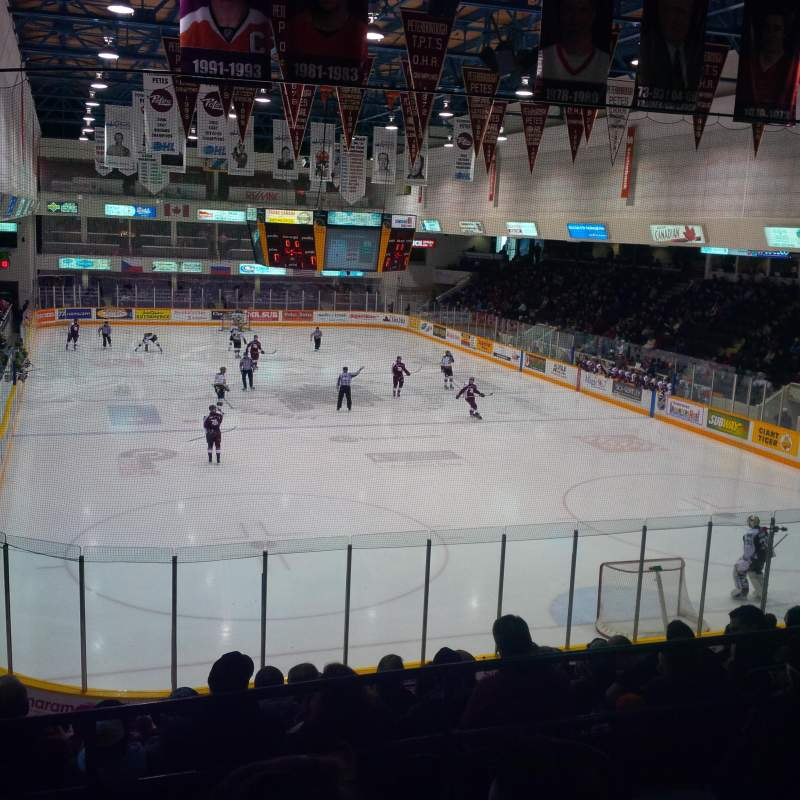 Seating view for Peterborough Memorial Centre Section 17 Row O Seat 2