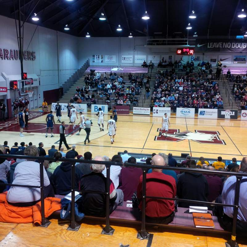 Seating view for Burridge Gymnasium