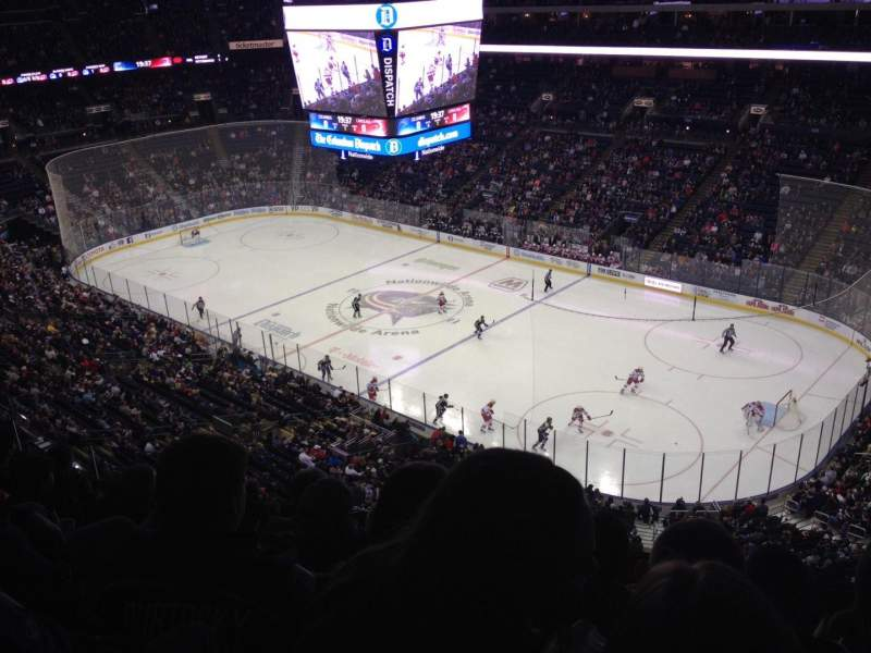 Seating view for Nationwide Arena Section 214 Row F Seat 8