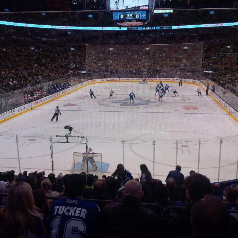 Seating view for Air Canada Centre Section 113 Row 21 Seat 10
